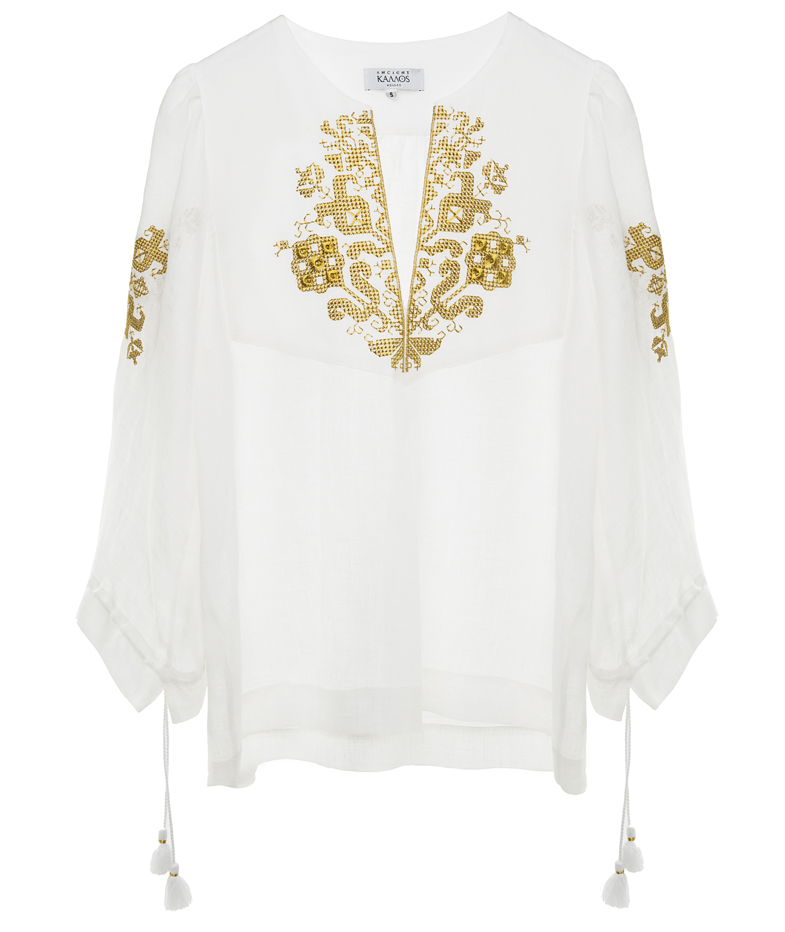 3.Persephone embroidered blouse