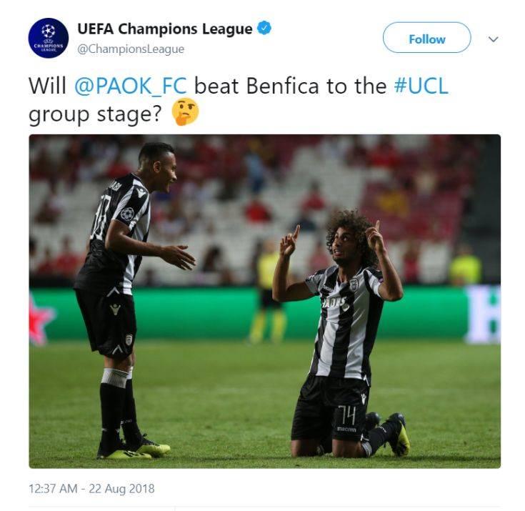 Ο ΠΑΟΚ τρολάρει την UEFA