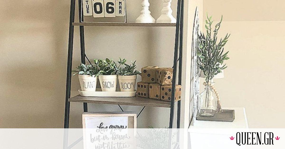 Βάλε τη σκάλα στη διακόσμηση σπιτιού και δημιούργησε το πιο ρουστίκ περιβάλλον