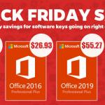 Black Friday Sale και σε κλειδιά για Windows 10 Pro, Office 2016/2019 Pro Plus
