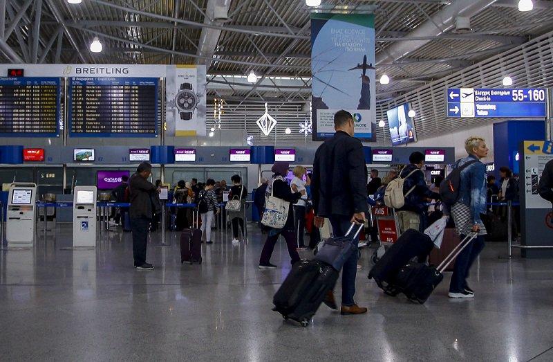 Αύξηση 13% των αεροπορικών αφίξεων τουριστών το 1ο τετράμηνο 1