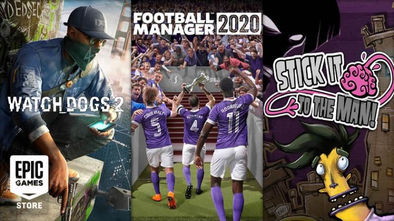 Football Manager 2020, Watch Dogs 2 και Stick It To The Man δωρεάν στο Epic Games Store