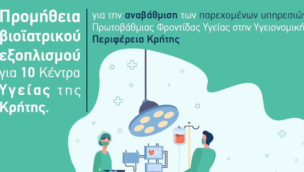 Βιοϊατρικός εξοπλισμός 610 χιλιάδων ευρώ σε 10 Κέντρα Υγείας 8